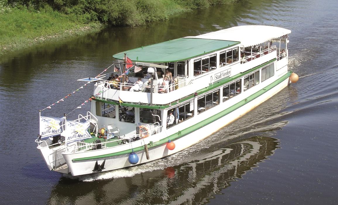 Schifffahrt auf der Weser mit der Flotte Weser und FloraFarm Ginseng. Ahoi!
