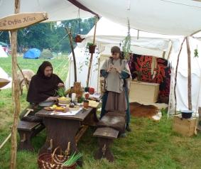 Lagerleben im Mittelalter - auf der FloraFarm